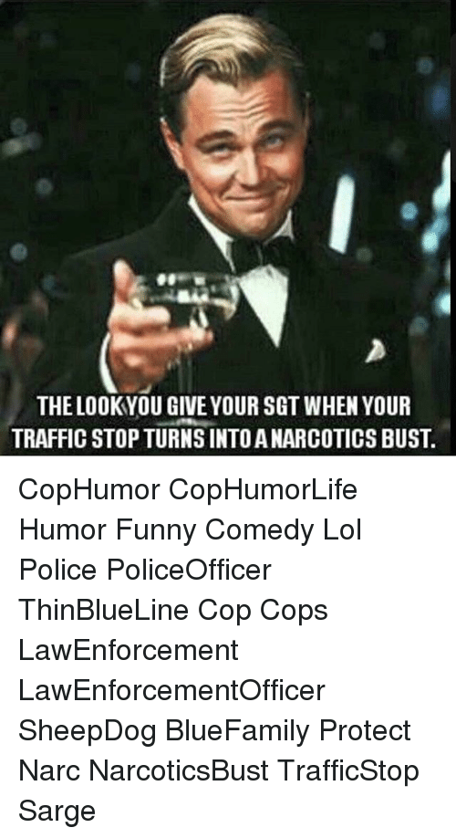 Narcing: THE LOOKYOU GIVE YOUR SGT WHEN YOUR  TRAFFIC STOP TURNS INTO A NARCOTICS BUST. CopHumor CopHumorLife Humor Funny Comedy Lol Police PoliceOfficer ThinBlueLine Cop Cops LawEnforcement LawEnforcementOfficer SheepDog BlueFamily Protect Narc NarcoticsBust TrafficStop Sarge
