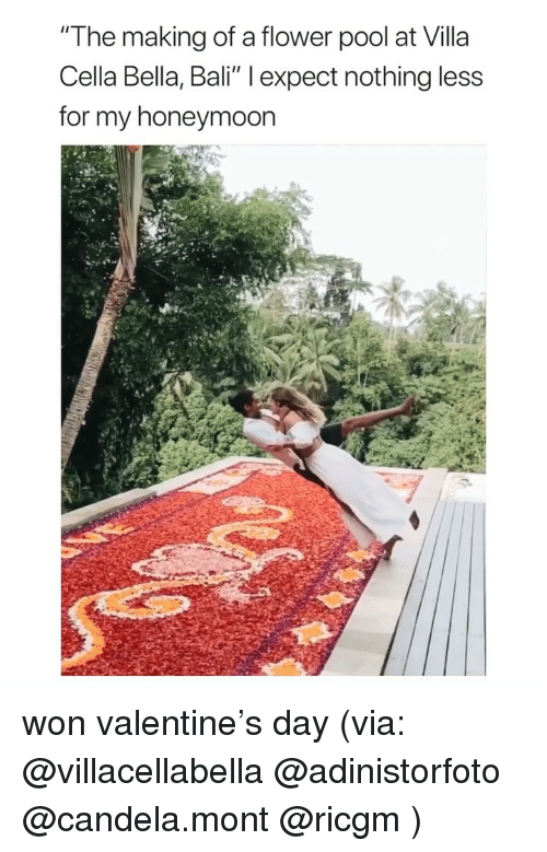"""Bali: """"The making of a flower pool at Villa  Cella Bella, Bali"""" l expect nothing less  for my honeymoon won valentine's day (via: @villacellabella @adinistorfoto @candela.mont @ricgm )"""