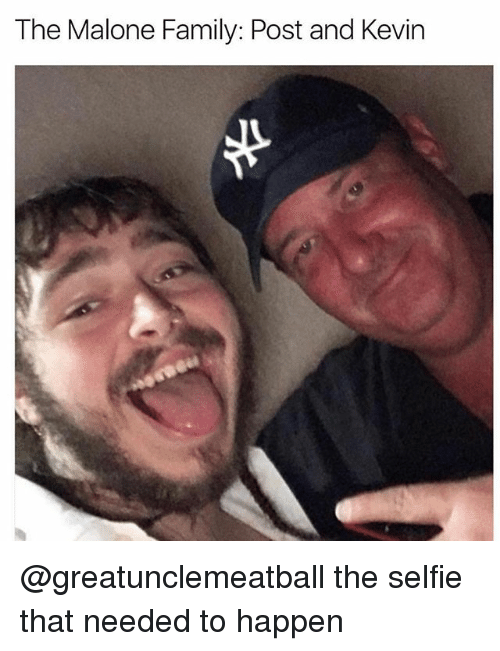 Family, Selfie, and Dank Memes: The Malone Family: Post and Kevin @greatunclemeatball the selfie that needed to happen