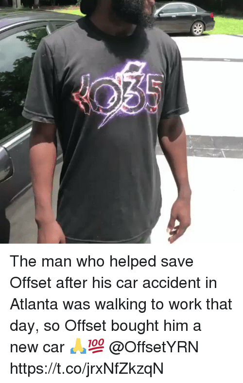 The Man Who Helped Save Offset After His Car Accident In Atlanta Was