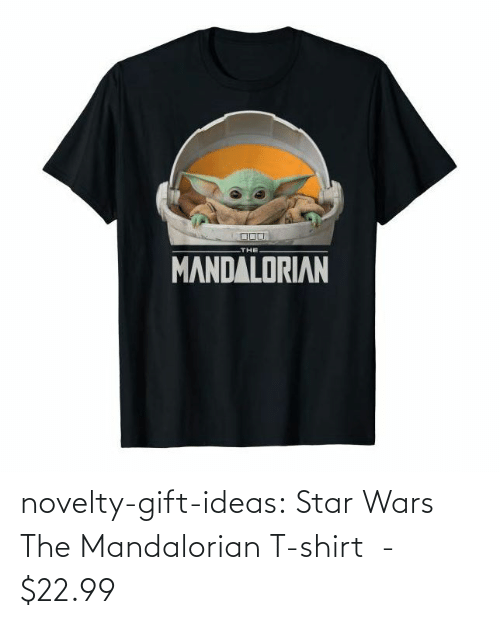 Star Wars: THE  MANDALORIAN novelty-gift-ideas:  Star Wars The Mandalorian T-shirt  -   $22.99