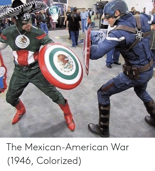 American, Mexican, and War: The Mexican-American War (1946, Colorized)