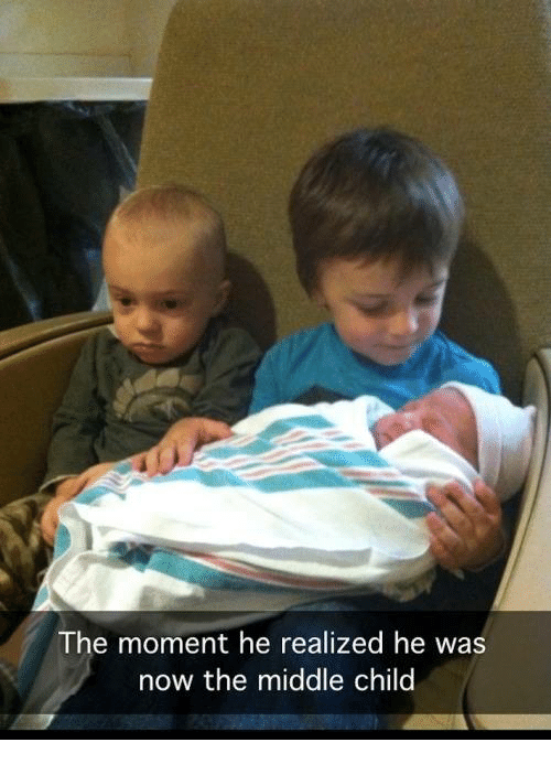 Memes, 🤖, and  Middle Child: The moment he realized he was  now the middle child
