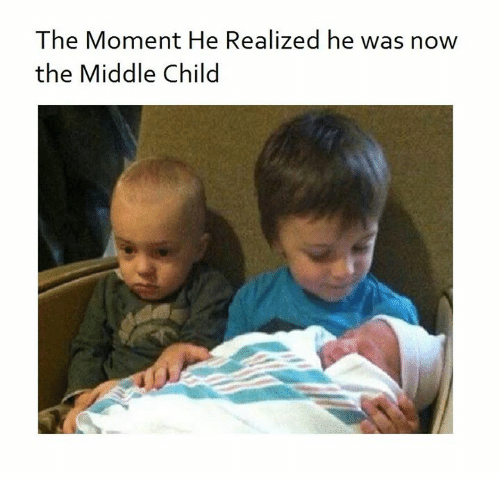 Memes, The Middle, and 🤖: The Moment He Realized he was now  the Middle Child