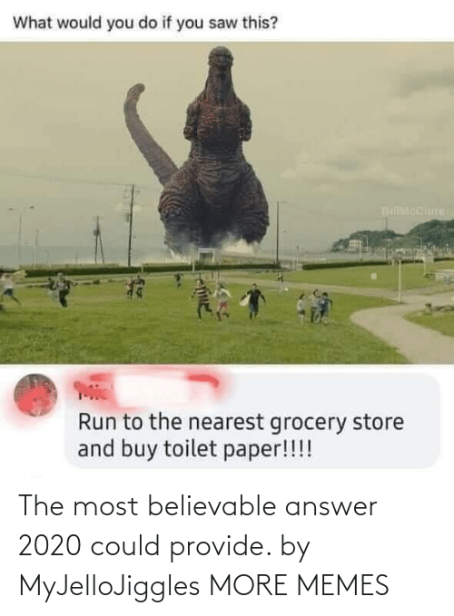 The Most: The most believable answer 2020 could provide. by MyJelloJiggles MORE MEMES