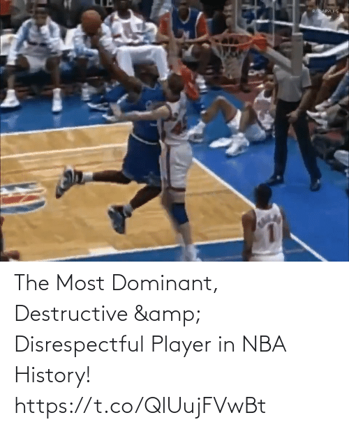player: The Most Dominant, Destructive & Disrespectful Player in NBA History!   https://t.co/QlUujFVwBt