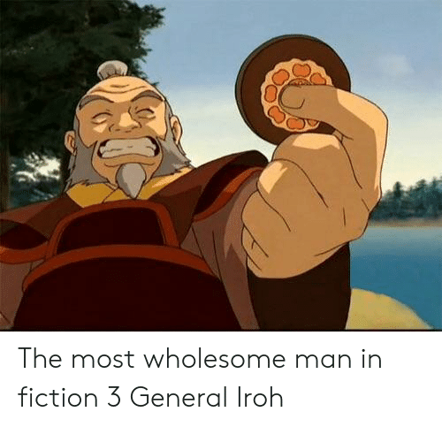Wholesome, Fiction, and Man: The most wholesome man in fiction 3 General Iroh
