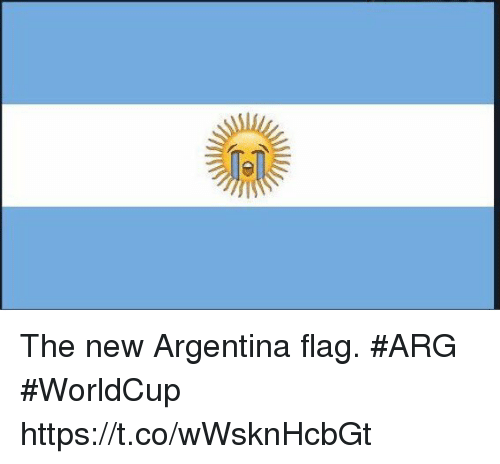 Soccer, Argentina, and New: The new Argentina flag. #ARG #WorldCup https://t.co/wWsknHcbGt