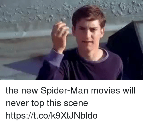 Movies, Spider, and SpiderMan: the new Spider-Man movies will never top this scene https://t.co/k9XtJNbldo