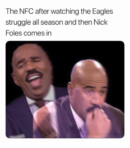 Philadelphia Eagles, Nfl, and Struggle: The NFC after watching the Eagles  struggle all season and then Nick  Foles comes in