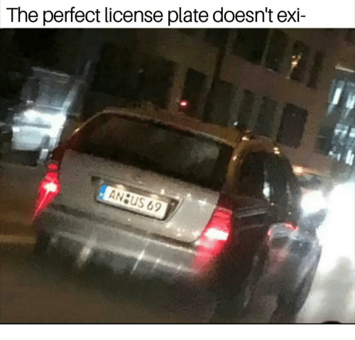 License Plate, Perfect, and The: The perfect license plate doesn't exi-