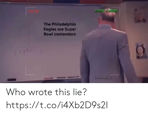 Philadelphia Eagles, Football, and Nfl: The Philadelphia  Eagles are Super  Bowl contenders  kmlkmljkl Who wrote this lie? https://t.co/i4Xb2D9s2I