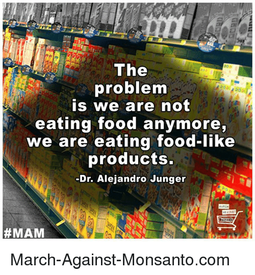 The Problem Is That We Are Not Eating Food Anymore
