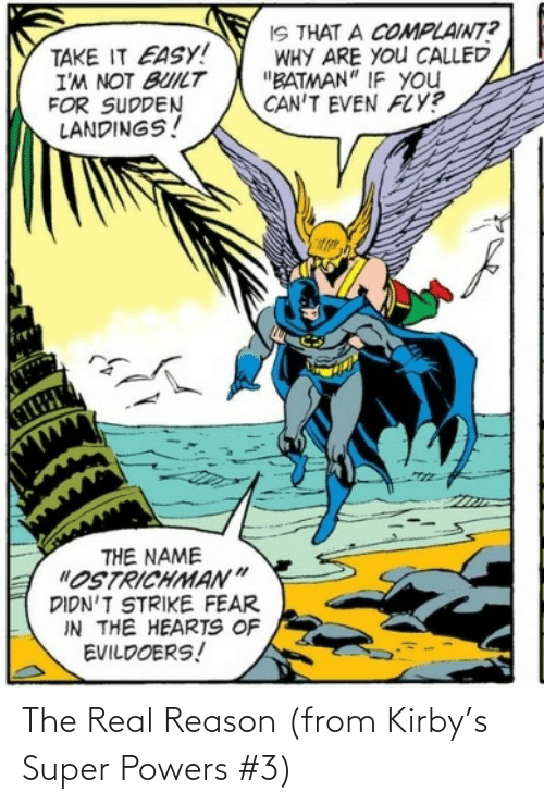 powers: The Real Reason (from Kirby's Super Powers #3)