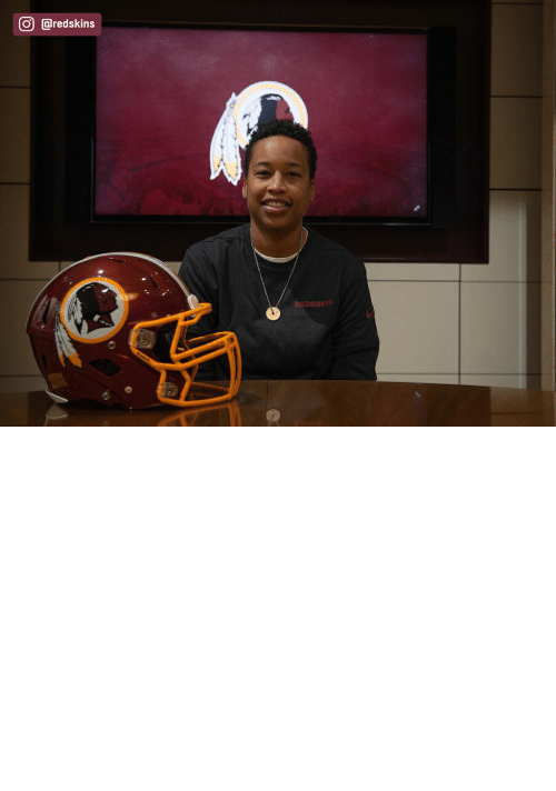 year: The Redskins have named Jennifer King as a full-year coaching intern. King is the first full season African American female coach in the NFL. (via @redskins) https://t.co/OuD411hqSr