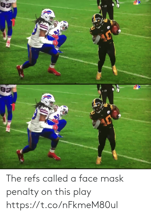 Mask: The refs called a face mask penalty on this play https://t.co/nFkmeM80ul