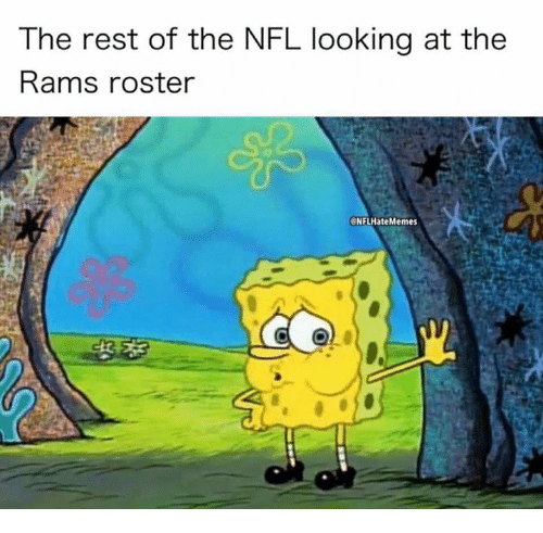 Nfl, Rams, and Looking: The rest of the NFL looking at the  Rams roster  NFLHateMemes