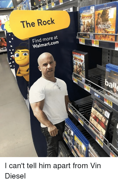 Dank, The Rock, and Vin Diesel: The Rock  Find more at  Walmart.com  al I can't tell him apart from Vin Diesel