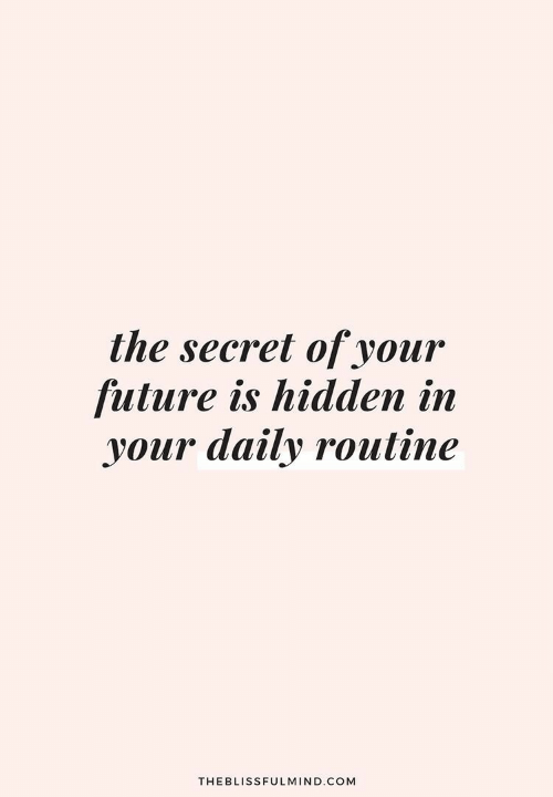 Future, Hidden, and Com: the secret of your  future is hidden in  your daily routine  THEBLISSFULMIND.COM