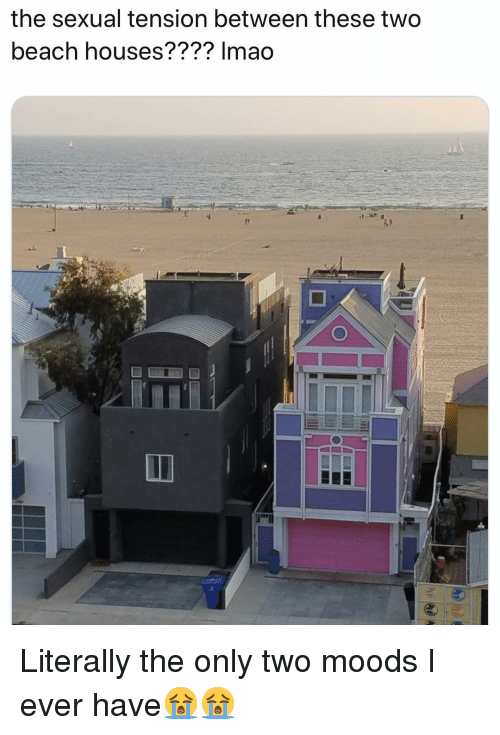 Funny, Beach, and Houses: the sexual tension between these two  beach houses???? Imao Literally the only two moods I ever have😭😭