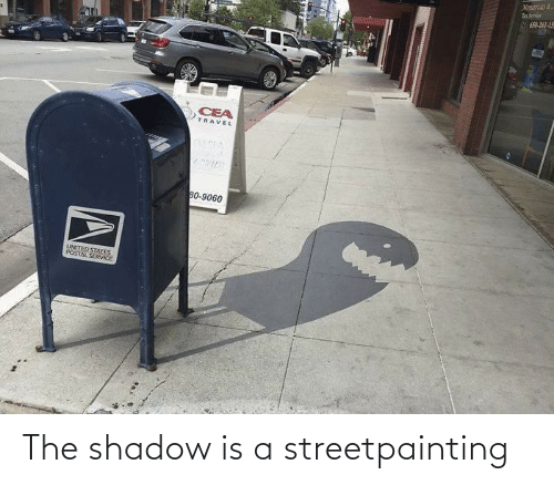 shadow: The shadow is a streetpainting
