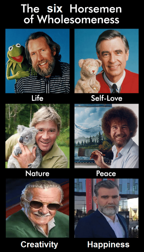 Life, Love, and Nature: The six Horsemen  of Wholesomeness  Life  Self-Love  Nature  Peace  Creativity  Happiness