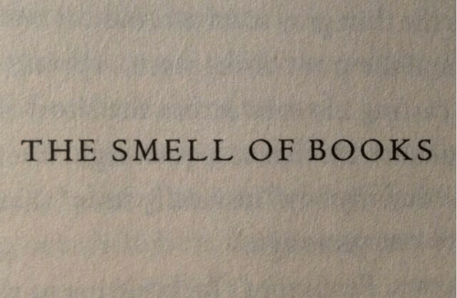 Books, Smell, and The: THE SMELL OF BOOKS