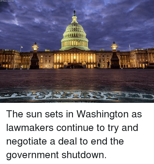 Memes, Government, and 🤖: The sun sets in Washington as lawmakers continue to try and negotiate a deal to end the government shutdown.