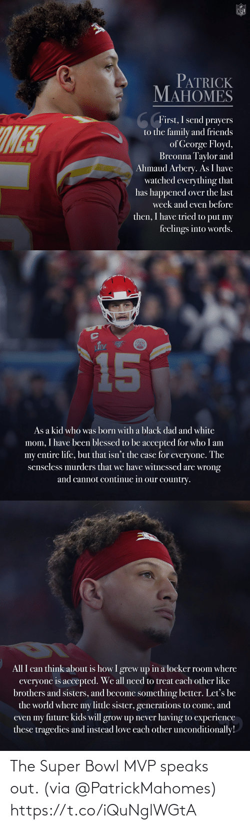 out: The Super Bowl MVP speaks out. (via @PatrickMahomes) https://t.co/iQuNglWGtA
