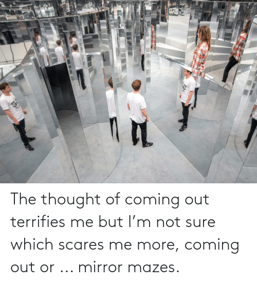 Coming Out: The thought of coming out terrifies me but I'm not sure which scares me more, coming out or ... mirror mazes.