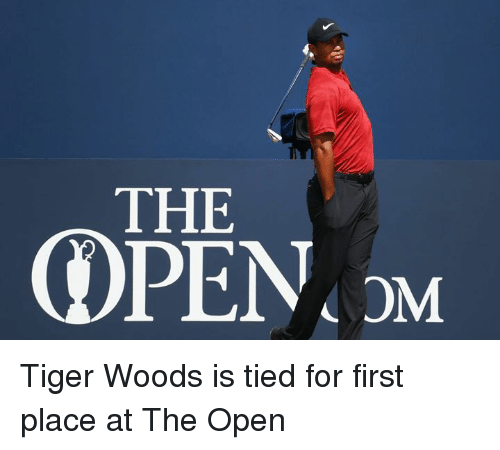 Tiger Woods, Tiger, and Open: THE Tiger Woods is tied for first place at The Open