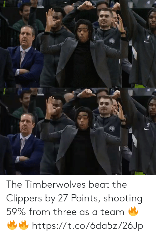 beat: The Timberwolves beat the Clippers by 27 Points, shooting 59% from three as a team  🔥🔥🔥 https://t.co/6da5z726Jp