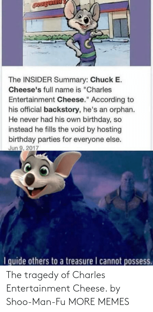 Charles: The tragedy of Charles Entertainment Cheese. by Shoo-Man-Fu MORE MEMES