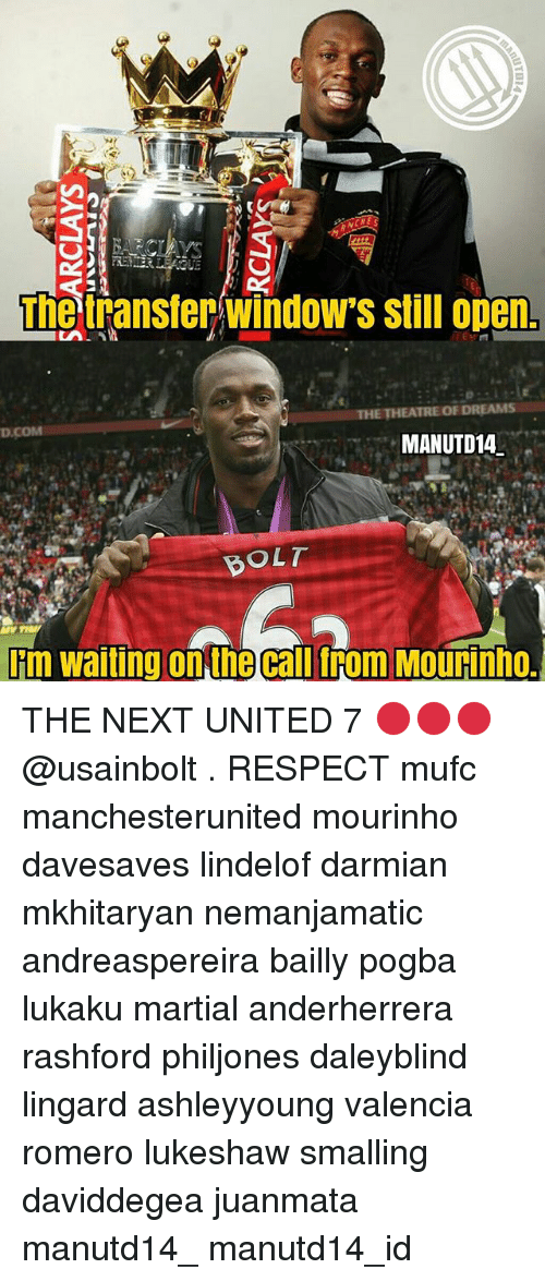 Bolting: The transter/windows still open  THE THEATRE OF DREAMS  MANUTD14  BOLT  Fm waiting on the callfrom Mourinho. THE NEXT UNITED 7 🔴🔴🔴 @usainbolt . RESPECT mufc manchesterunited mourinho davesaves lindelof darmian mkhitaryan nemanjamatic andreaspereira bailly pogba lukaku martial anderherrera rashford philjones daleyblind lingard ashleyyoung valencia romero lukeshaw smalling daviddegea juanmata manutd14_ manutd14_id