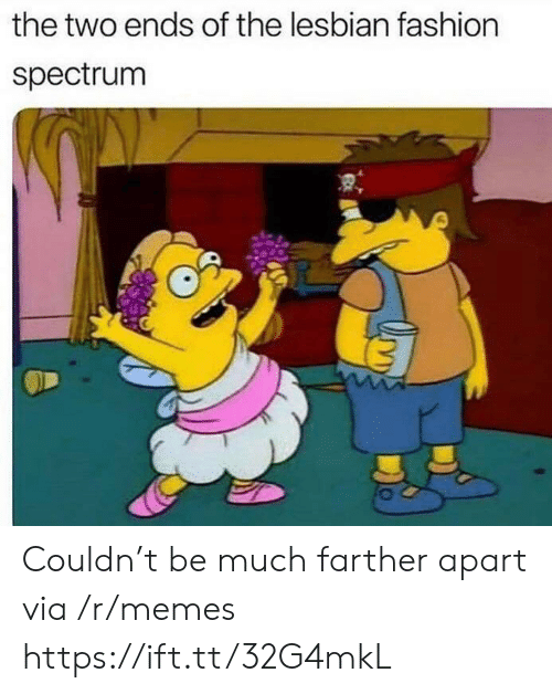 spectrum: the two ends of the lesbian fashion  spectrum Couldn't be much farther apart via /r/memes https://ift.tt/32G4mkL