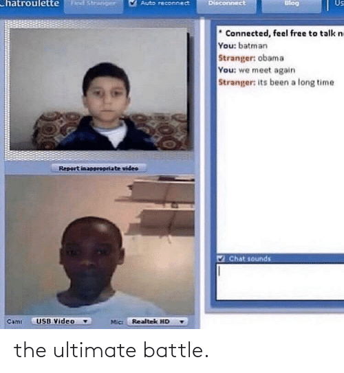 Ultimate: the ultimate battle.