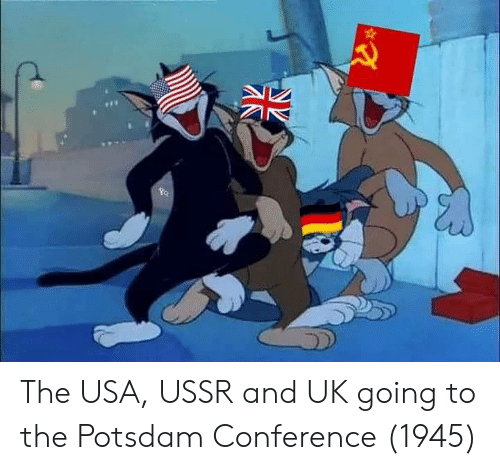 Ussr, Usa, and And: The USA, USSR and UK going to the Potsdam Conference (1945)