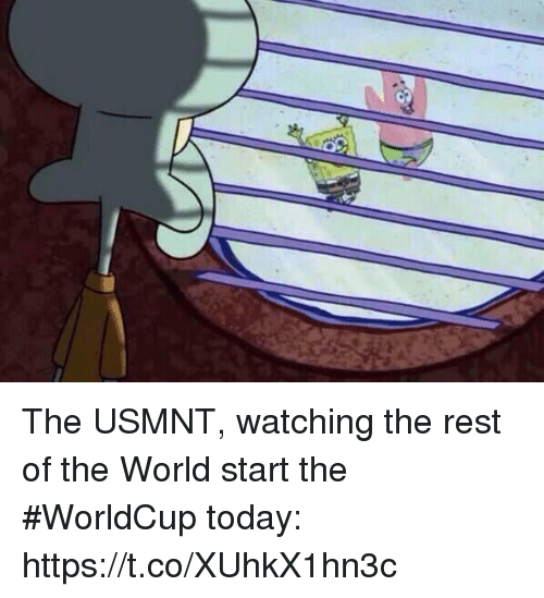 Sports, Today, and World: The USMNT, watching the rest of the World start the #WorldCup today: https://t.co/XUhkX1hn3c