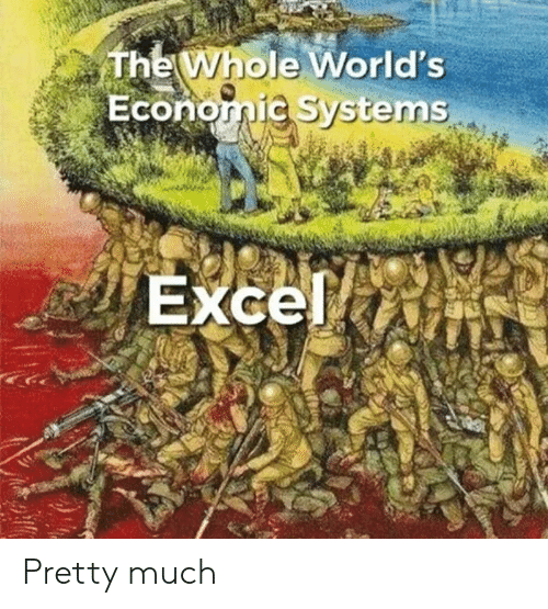 Excel, Systems, and Economic: The Whole World's  Economic Systems  Excel Pretty much