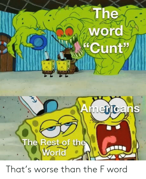 """Cunt, Word, and World: The  word  Cunt""""  Americans  The Rest of the  World That's worse than the F word"""