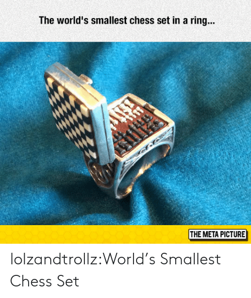Tumblr, Blog, and Chess: The world's smallest chess set in a ring...  if  THE META PICTURE lolzandtrollz:World's Smallest Chess Set