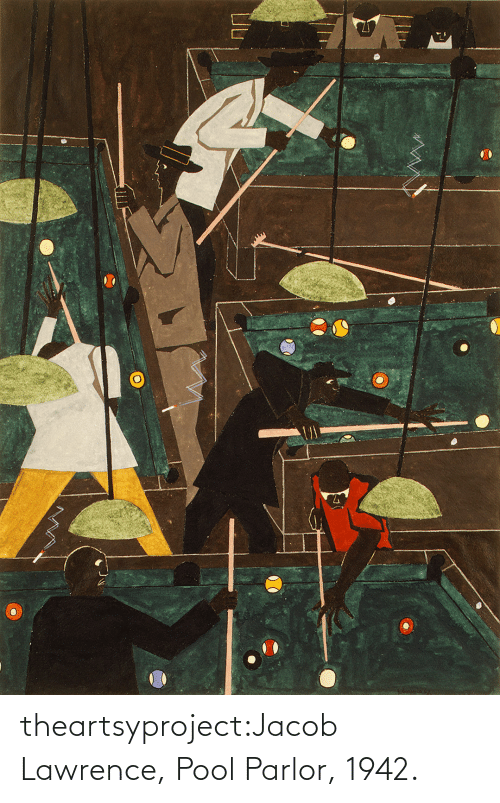 jacob: theartsyproject:Jacob Lawrence, Pool Parlor, 1942.