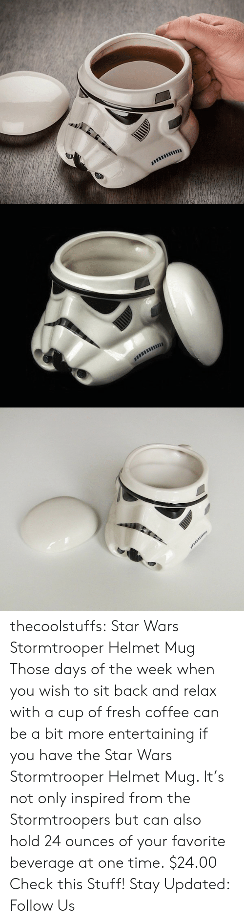 Amazon, Fresh, and Star Wars: thecoolstuffs:  Star Wars Stormtrooper Helmet Mug  Those days of the week when you wish to sit back and relax with a cup of fresh coffee can be a bit more entertaining if you have the Star Wars Stormtrooper Helmet Mug. It's not only inspired from the Stormtroopers but can also hold 24 ounces of your favorite beverage at one time.  $24.00   Check this Stuff!   Stay Updated: Follow Us