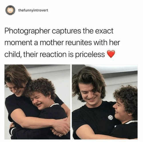 Her, Mother, and Moment: thefunnyintrovert  Photographer captures the exact  moment a mother reunites with her  child, their reaction is priceless