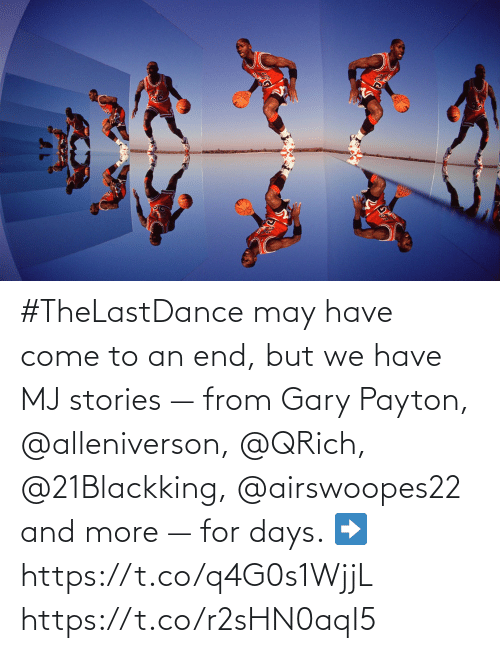 may: #TheLastDance may have come to an end, but we have MJ stories — from Gary Payton, @alleniverson, @QRich, @21Blackking, @airswoopes22 and more — for days.   ➡️ https://t.co/q4G0s1WjjL https://t.co/r2sHN0aqI5
