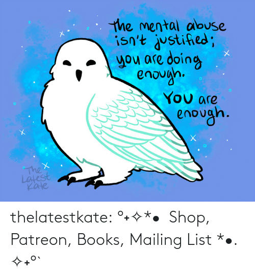 books: thelatestkate:    °˖✧*•  Shop, Patreon, Books, Mailing List *•. ✧˖°`