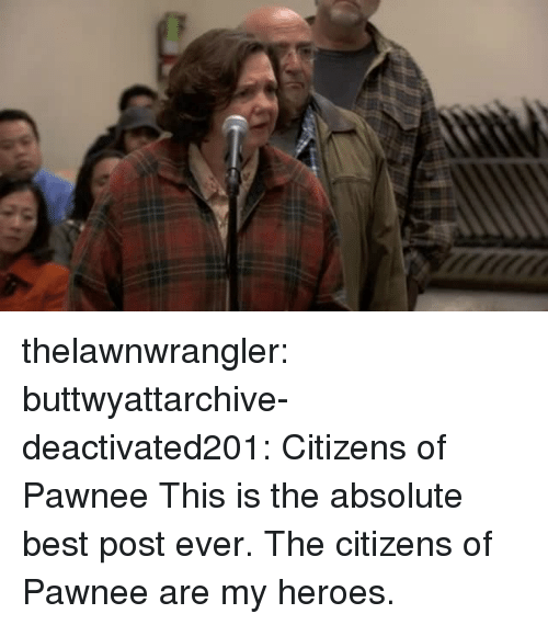 Target, Tumblr, and Best: thelawnwrangler: buttwyattarchive-deactivated201:  Citizens of Pawnee  This is the absolute best post ever. The citizens of Pawnee are my heroes.