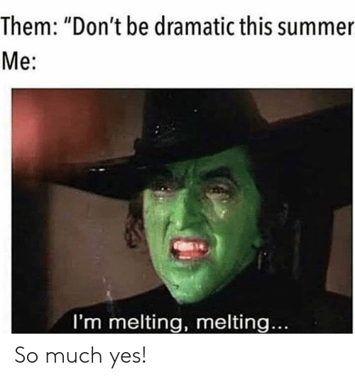 "Dank, Summer, and 🤖: Them: ""Don't be dramatic this summer  Me:  I'm melting, melting... So much yes!"