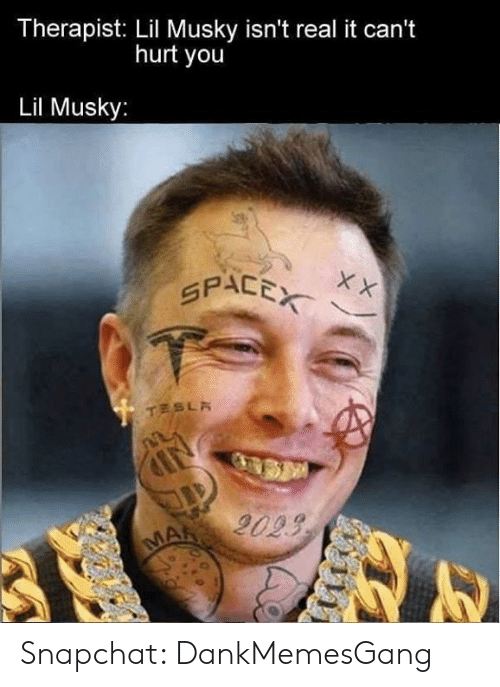 Memes, Snapchat, and Space: Therapist: Lil Musky isn't real it can't  hurt you  Lil Musky:  SPACE xx Snapchat: DankMemesGang