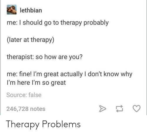 therapy: Therapy Problems